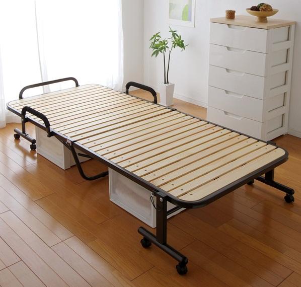 Giường gấp nan gỗ OTB-WH